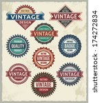 retro vintage badges and labels | Shutterstock .eps vector #174272834