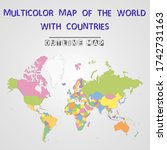 multicolor map of the world... | Shutterstock .eps vector #1742731163