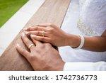 African Beautiful Bride's Hand...