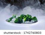 Fresh Organic Broccoli Covered...