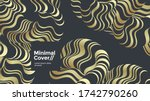 black and gold fluid 3d shapes. ... | Shutterstock .eps vector #1742790260