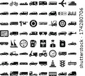 shapes of transport sector | Shutterstock .eps vector #174280706