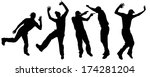 vector silhouette dancing and... | Shutterstock .eps vector #174281204