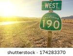 West California 190 Signboard...