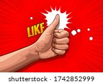 picture of hand showing thumbs... | Shutterstock .eps vector #1742852999
