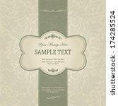 vintage background  antique... | Shutterstock .eps vector #174285524