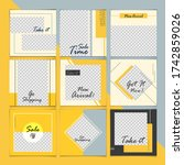 a large set for social media... | Shutterstock .eps vector #1742859026