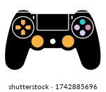 video game ps4 controller  ... | Shutterstock .eps vector #1742885696