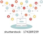 network concept   set of social ...