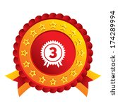 third place award sign icon....   Shutterstock .eps vector #174289994