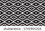 ikat geometric folklore... | Shutterstock .eps vector #1742901326