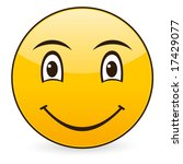 smile icon on a white... | Shutterstock .eps vector #17429077