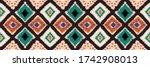 ikat geometric folklore... | Shutterstock .eps vector #1742908013