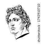 bust of apollo  the ancient... | Shutterstock .eps vector #1742910710