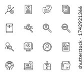 interview line icons set ... | Shutterstock .eps vector #1742921366