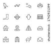 ancient egypt line icons set ... | Shutterstock .eps vector #1742921399