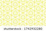 the geometric pattern with... | Shutterstock . vector #1742932280