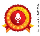 microphone icon. speaker symbol....   Shutterstock .eps vector #174293504