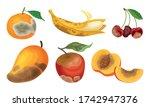 garden fruits with skin covered ... | Shutterstock .eps vector #1742947376