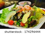 salad with avocado and shrimp... | Shutterstock . vector #174296444
