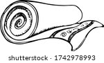 rolled up beach towel with an...   Shutterstock .eps vector #1742978993
