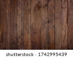 aged brown wood panel texture... | Shutterstock . vector #1742995439