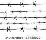 vector drawing of the barbed wire - stock vector