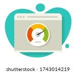 speed of website loading vector ... | Shutterstock .eps vector #1743014219