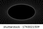 White Lines Circle Pattern On...