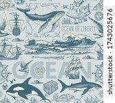 vector abstract seamless... | Shutterstock .eps vector #1743025676