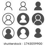 user profile login or access... | Shutterstock .eps vector #1743059900