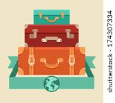 vector travel concept in flat... | Shutterstock .eps vector #174307334