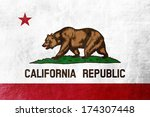 california state flag painted... | Shutterstock . vector #174307448