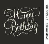 Happy Birthday Hand Lettering ...