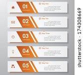 design clean number banners... | Shutterstock .eps vector #174308669