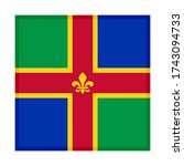 square icon with lincolnshire... | Shutterstock .eps vector #1743094733