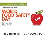 world food safety day 7 june... | Shutterstock .eps vector #1743098750