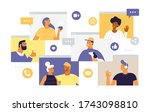 web windows with different... | Shutterstock .eps vector #1743098810