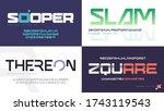 vector modern uppercase letter... | Shutterstock .eps vector #1743119543