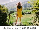 Woman In Summer Dress Travel...