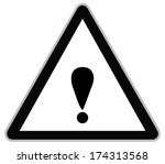 rounded triangle shape hazard... | Shutterstock .eps vector #174313568