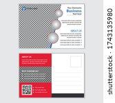 corporate postcard template...   Shutterstock .eps vector #1743135980