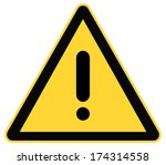 rounded triangle shape hazard... | Shutterstock . vector #174314558