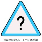 rounded triangle shape hazard... | Shutterstock . vector #174315500