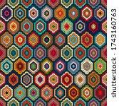 motley seamless pattern for... | Shutterstock .eps vector #1743160763