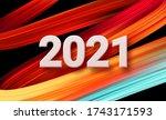 colorful brushstroke paint... | Shutterstock .eps vector #1743171593