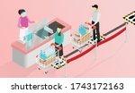isometric signs social... | Shutterstock .eps vector #1743172163