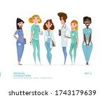 medical women characters in... | Shutterstock .eps vector #1743179639