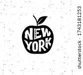 new york city typography design....   Shutterstock .eps vector #1743181253