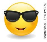 sunglasses emoji vector art...   Shutterstock .eps vector #1743191873